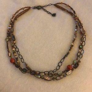 Silpada silver & beaded necklace